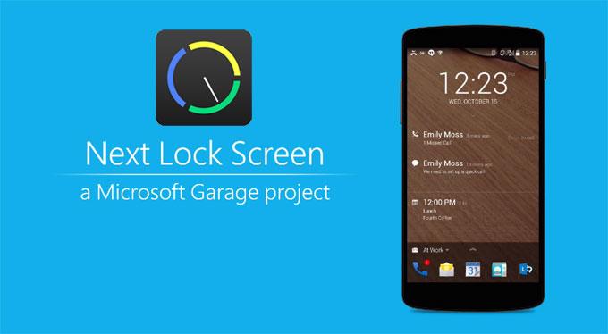 Next Lock Screen บอกสิ่งถัดไปบนหน้าจอล็อกสกรีนของ Android จาก Microsoft