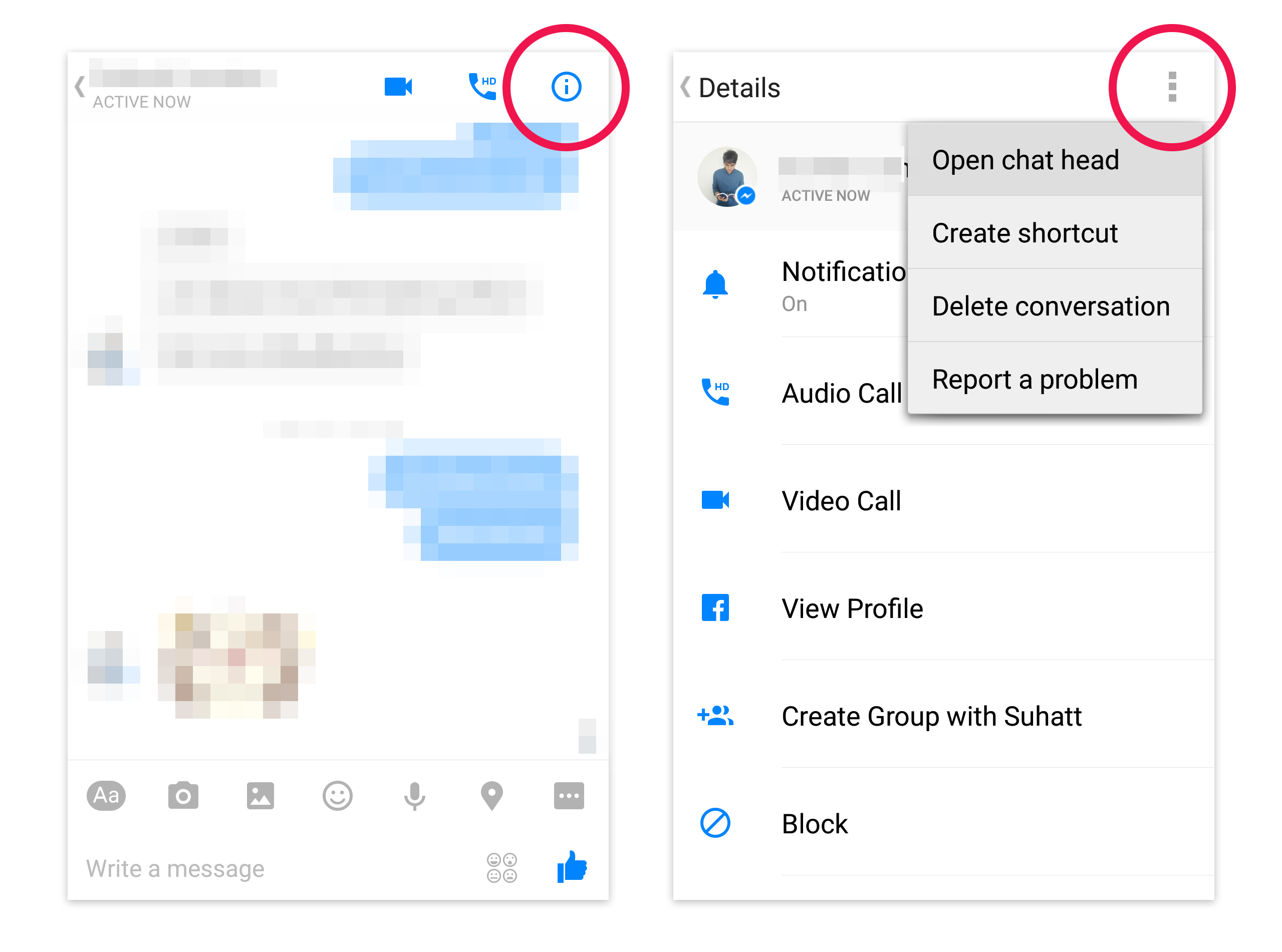 open chat heads