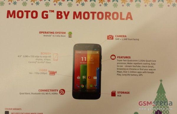หลุดภาพ Moto G คอนเฟิร์มว่าที่ smartphone ราคาประหยัดจากทาง Moto