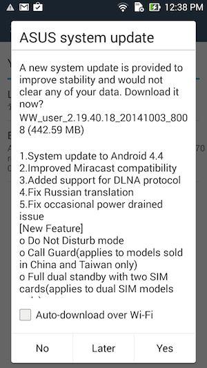 Zenfone 5 ได้หม่ำกินอัพเดท Android 4 4 KitKat เรียบร้อยแล้ว