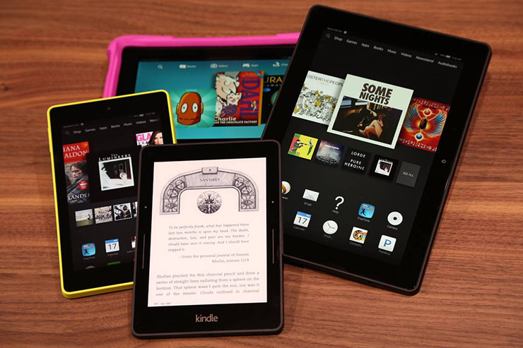 amazon kindle tablet line up
