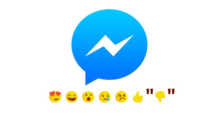 Facebook messenger reaction and dislike on testing