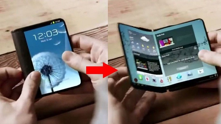Foldable display phone