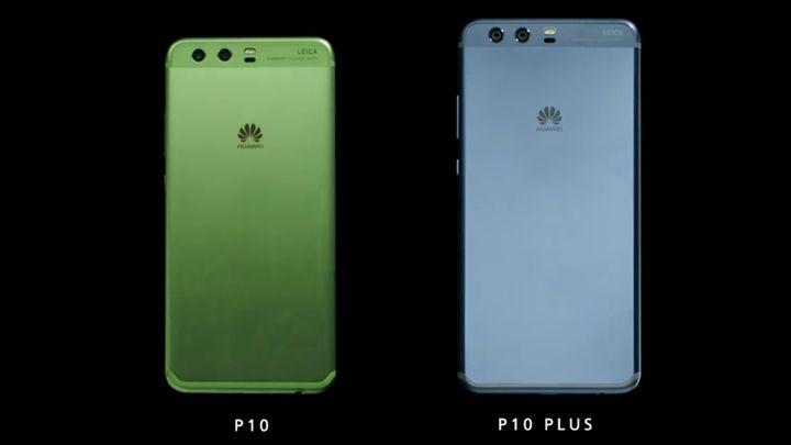 ็Huawei P10 (green) Huawei P10 Plus (blue)