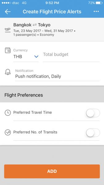 Traveloka Price Alert