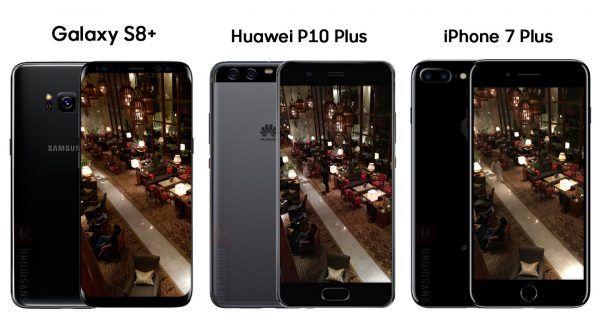 เปรียบเทียบภาพจาก Galaxy S8+ vs Huawei P10 Plus vs iPhone 7 Plus