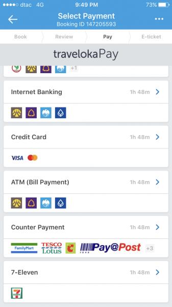 Traveloka Select Payment