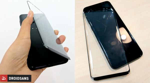 Galaxy S8+ รอดจากจอแตกได้เพราะกระจกกันรอยโฟกัส