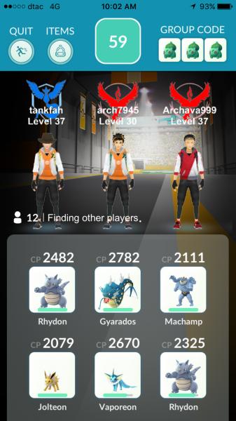 Pokemon Go Raid Battle - Group