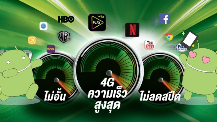 AIS 4G MAX SPEED UNLIMITED starts at THB699
