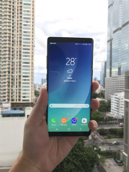 Galaxy Note 8 in Asian Male Hand