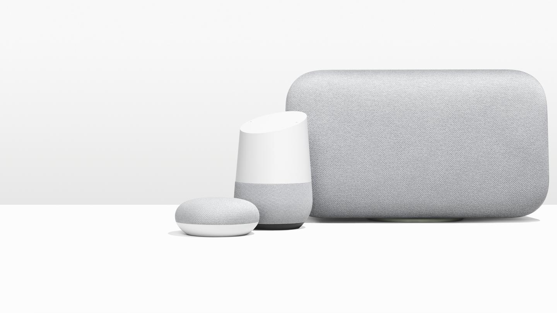 google home mini google home max. Black Bedroom Furniture Sets. Home Design Ideas