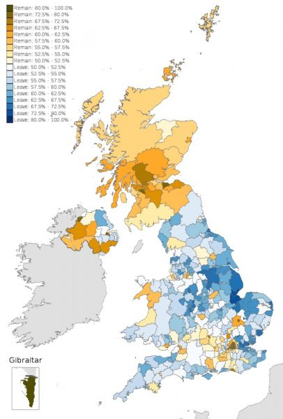 UK Brexit Vote Map