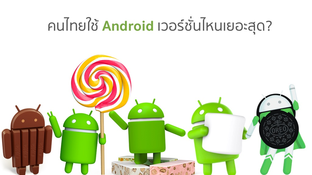 Thailand Android Version Distribution May 2018