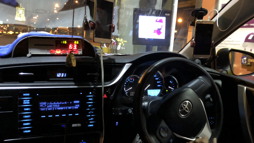 in-car technology of thai taxi