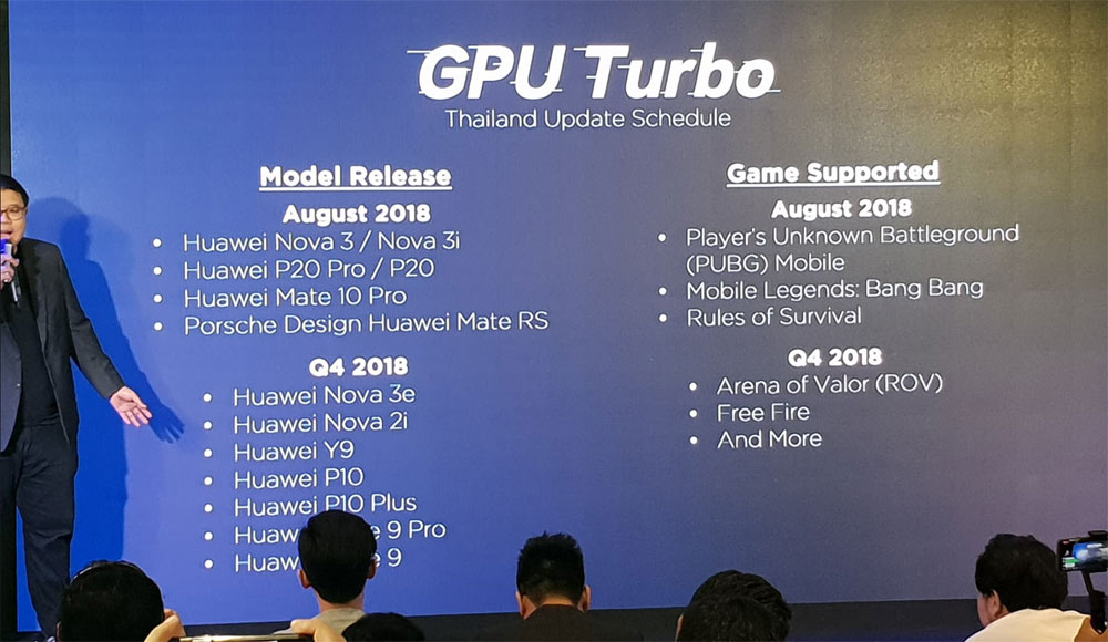 Huawei ปล่อยกำหนดการอัพเดท GPU Turbo ในประเทศไทยใหม่ | DroidSans