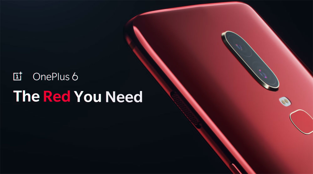 OnePlus 6 Red teaser