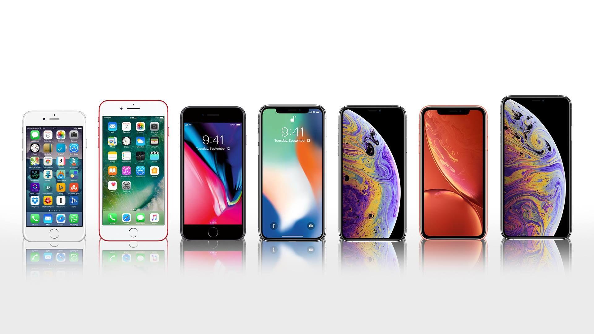 iPhone 7 -iPhone XS Max