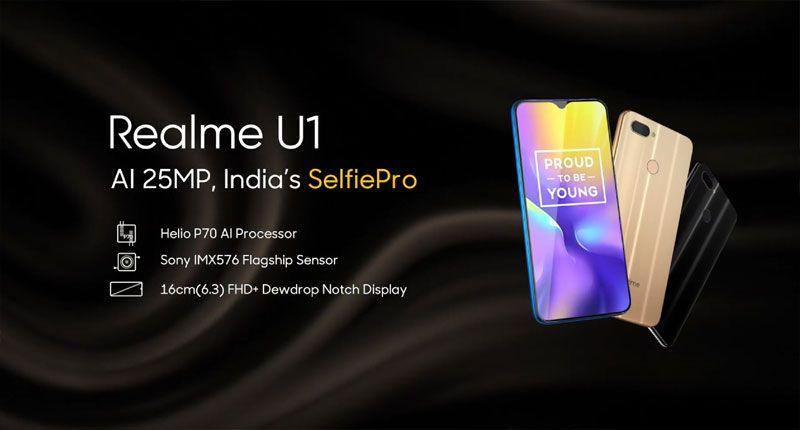 REALME U1 3GB RAM 32GB ROM - Realme U1 with MediaTek Helio