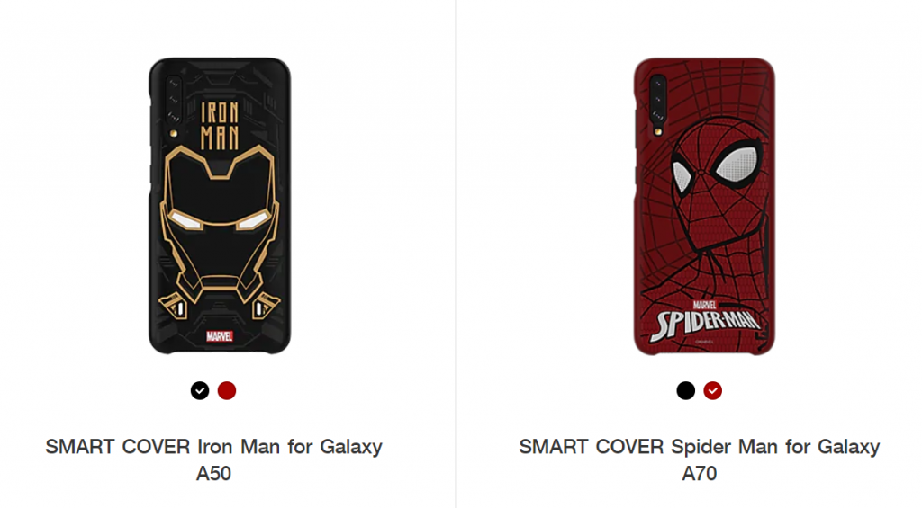 The Marvel Galaxy A50 and A70 came on the Samsung website in