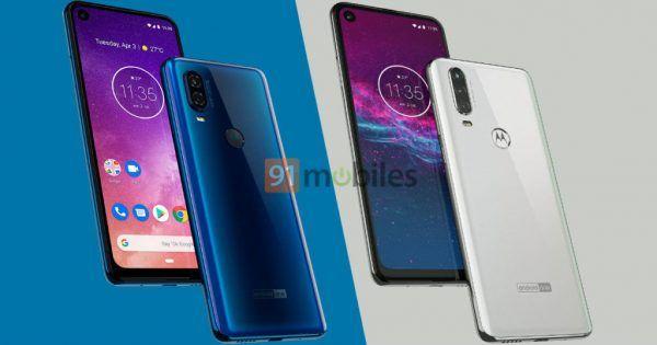 ซ้าย - Motorola One vision , ขวา - Motorola One Action