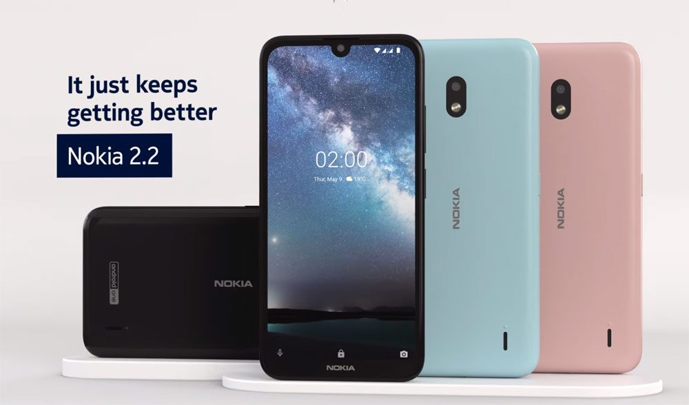 new concept d6c25 de97f HMD launches Nokia 2.2, Android One phone, small case with back ...