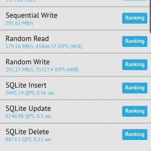Galaxy Note10+ UFS 3.0 Benckmark by IceUniverse